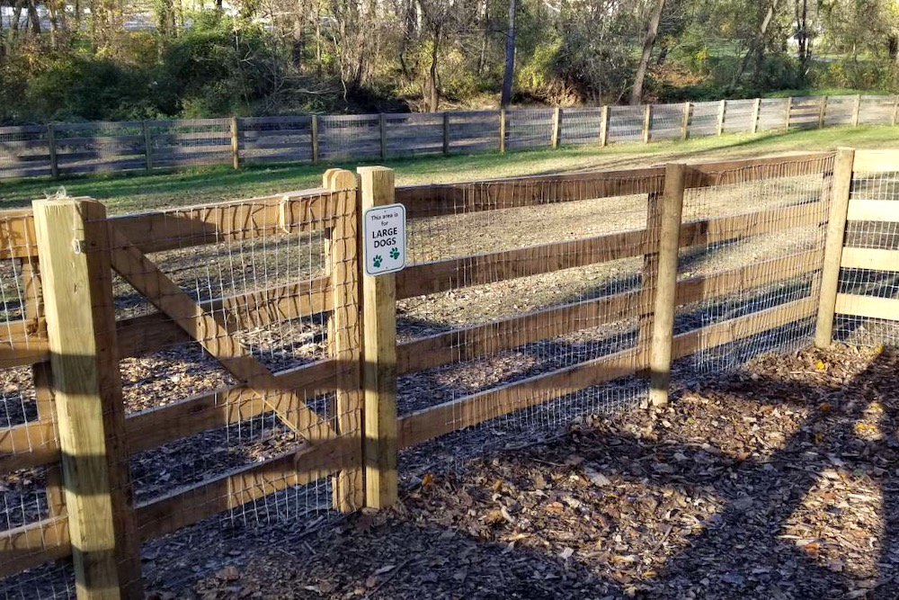 Anson B. Nixon - Dog Park, large breed gate